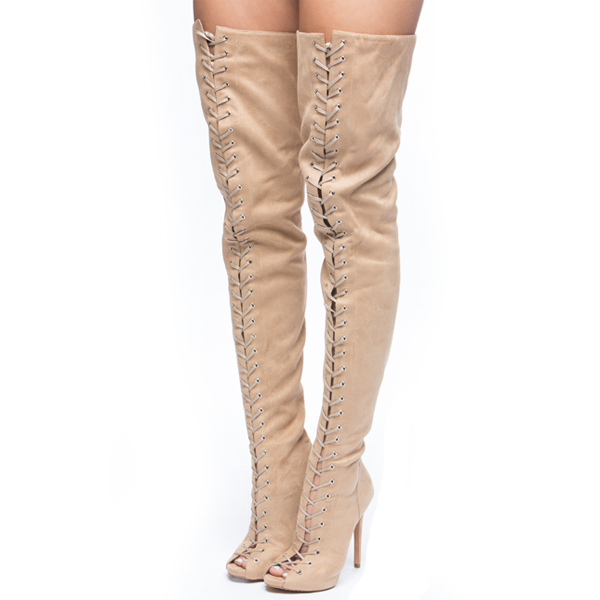 Piarry Style Suede Thigh High Boot · Solely Responsible · Online ...