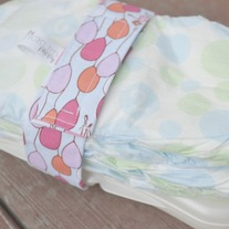 Diaper and Wipes Strap {balloons}
