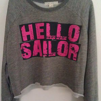 Hello Sailor Crop Sweater