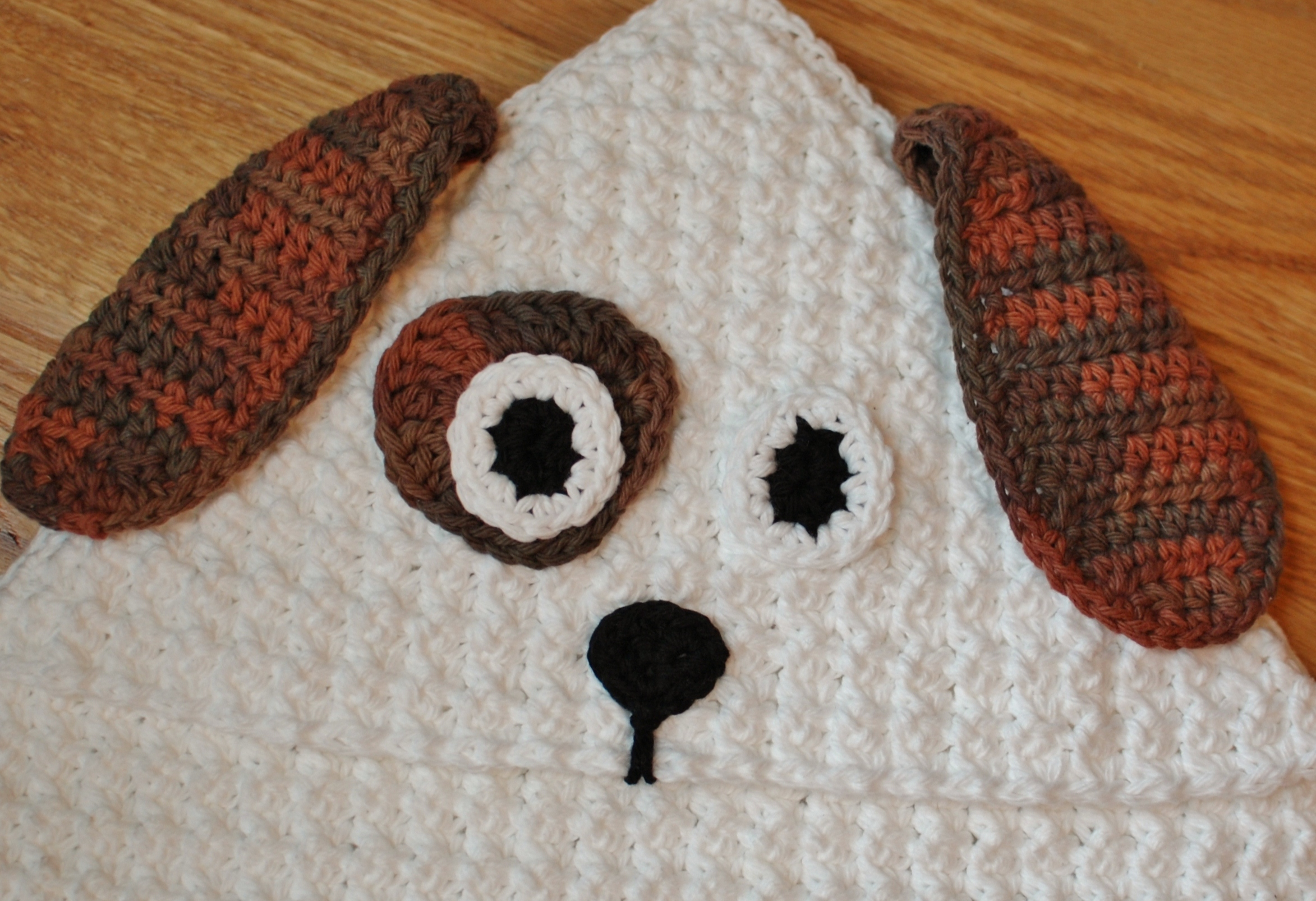 Crochet Pattern - Dog Hooded Baby Towel (also makes a great hooded ...