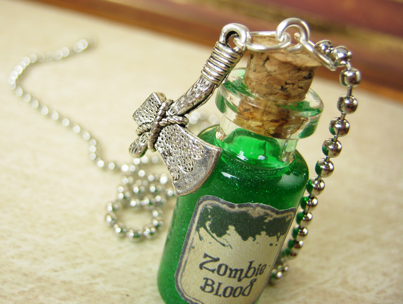 Zombie blood 2ml glass vial glass bottle necklace zombies red zombie blood 2ml glass vial glass bottle necklace zombies thumbnail 1 mozeypictures Image collections