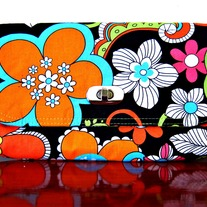 Mini Clutch - Flower Power Orange Hippie