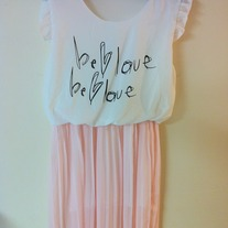 Be Love Waist Pleaded Dress