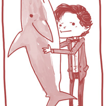 Doctor and Shark Print
