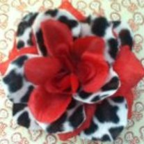 Red Cheetah Rose