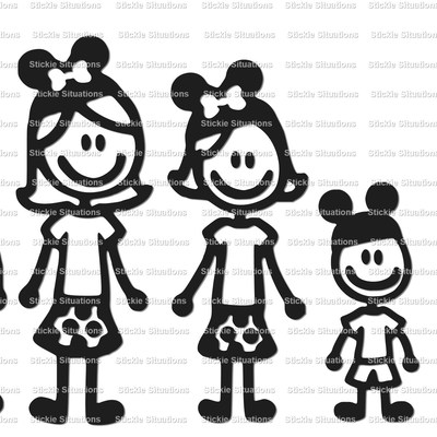 Disney family car decal design 2 · stickie situations · online store powered by storenvy