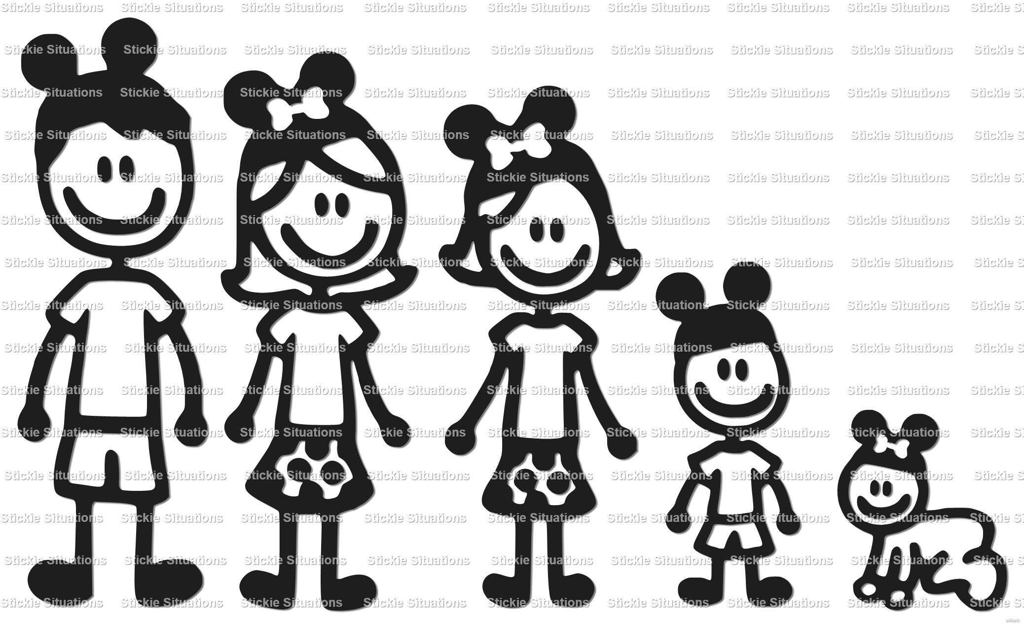 Design a car decal online - Disney Family Car Decal Design 2
