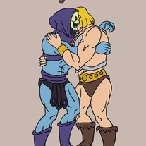 He Man and Skeletor forgiveness, 5x7 print