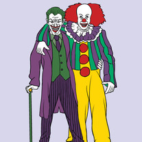 Joker and It best friends, 5x7 print