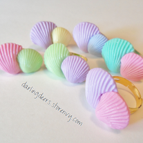 Pastel Sea Shell Rings