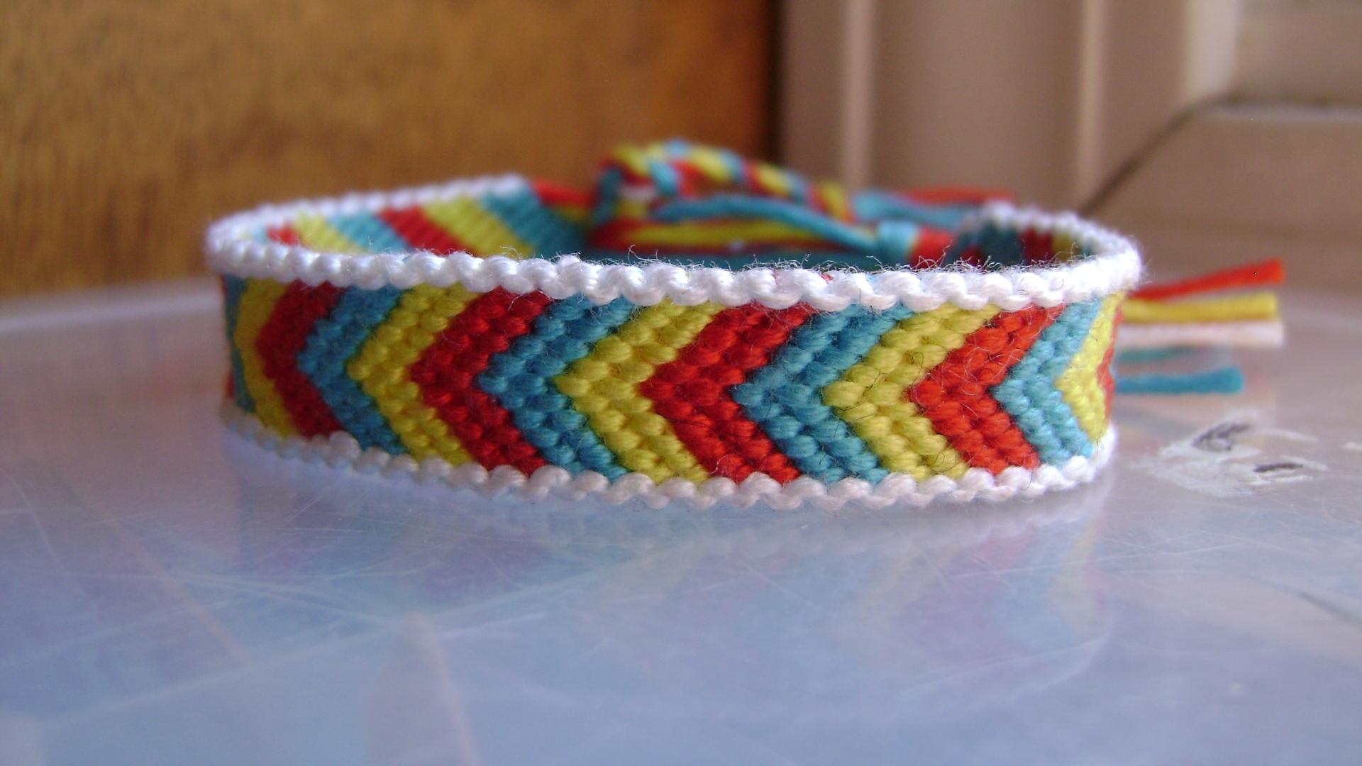 how to make a chevron pattern friendship bracelet