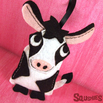Farm Animal Ornament - Fiona the Cow