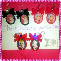 Custom Cameo Bow EARRINGS *Made to order*