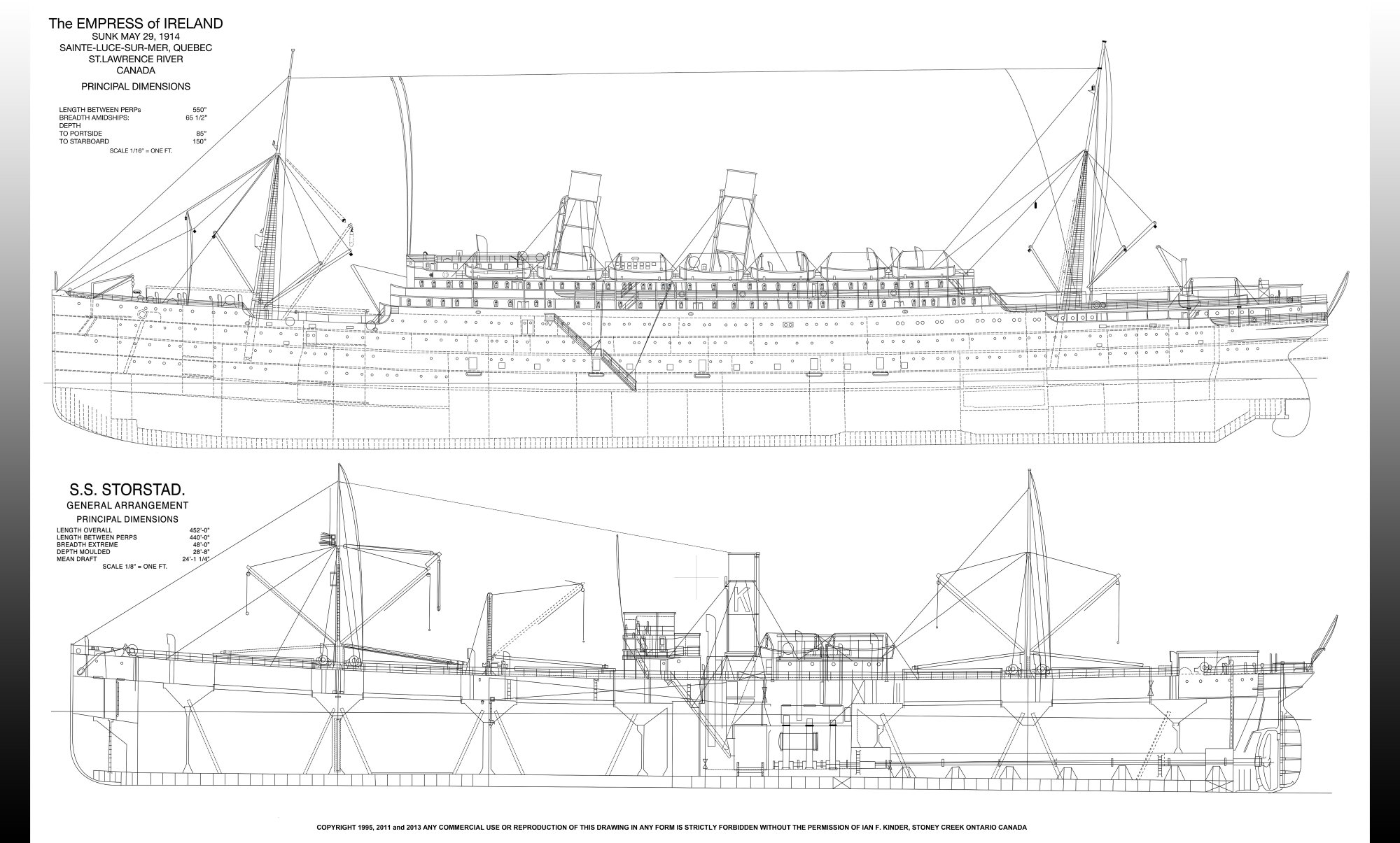 Make A Floor Plan For Free Online Ss Storstad And Empress Of Ireland Rigging Plan Poster