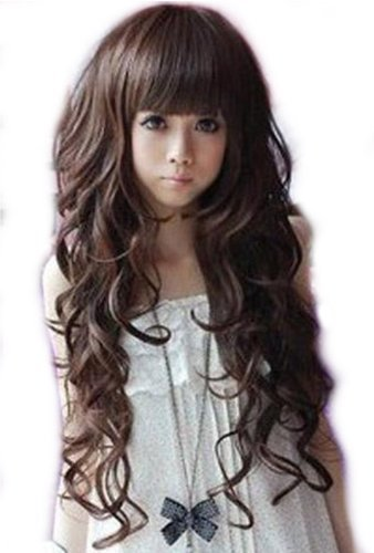 Curly Long Womens Wig Dark Brown On Storenvy