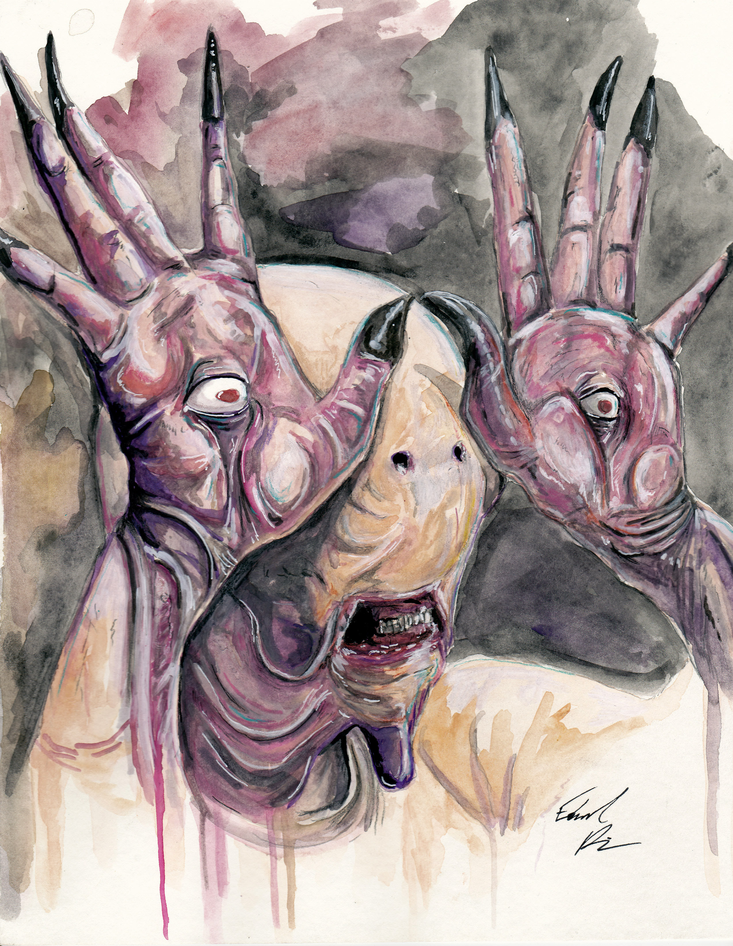 7896d84c019 Paleman from Pan s Labyrinth print · Taco Boy Designs · Online Store ...