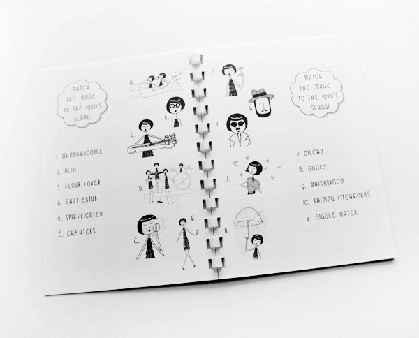 Cute 1920s Flapper activity book // PDF Printable