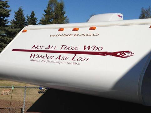 Rv Decal Lotr Not All Those Who Wander Are Lost