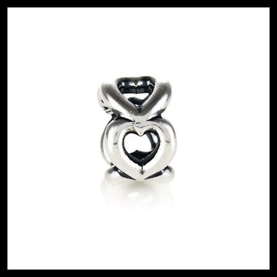 """c97fba6f6 Authentic pandora """"open heart"""" spacer .925 sterling silver  european charm bead -"""