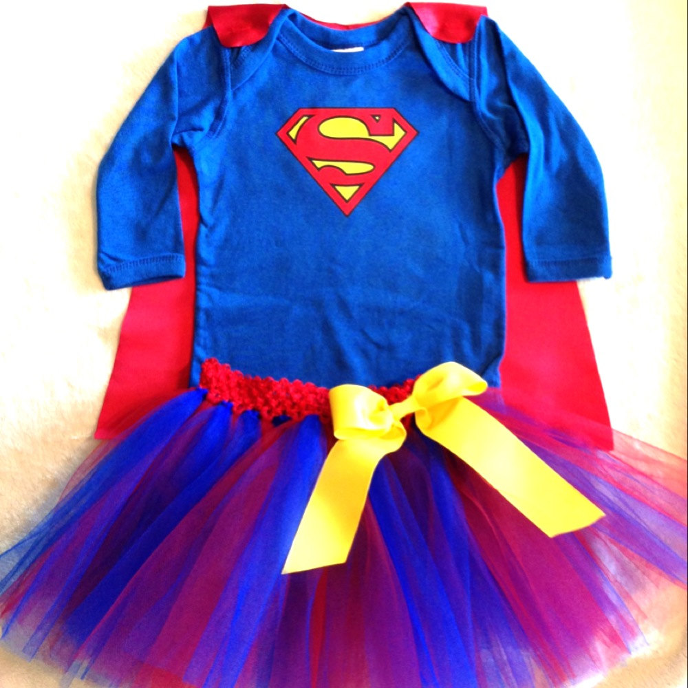 Girly Superman or Superwoman Superhero Baby Outfit with Detachable Cape TuTu and Reversible Mask  sc 1 st  Just Kidu0027n! Designs LLC - Storenvy & Girly Superman or Superwoman Superhero Baby Outfit with Detachable ...