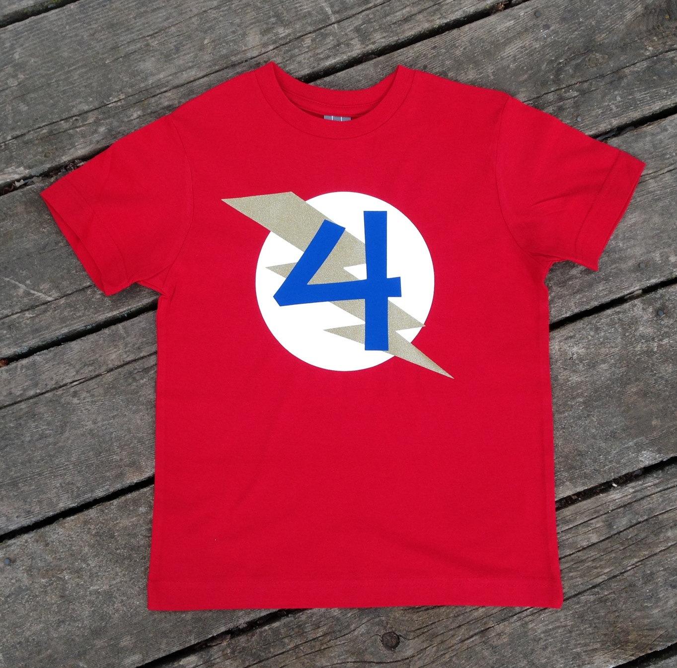 Personalized Kid39s Birthday Superhero T Shirt Custom Super Hero