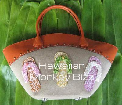 Quot Slipper Flip Flop Orange Quot Designer Island Bag