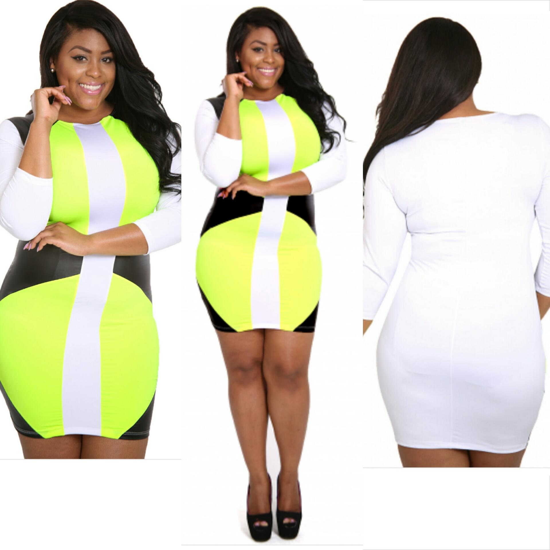 Courtlynn Boutique | ahead curves dress neon plus size | Online ...