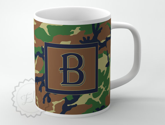 Personalized Coffee Mug Customized Mug Camouflage