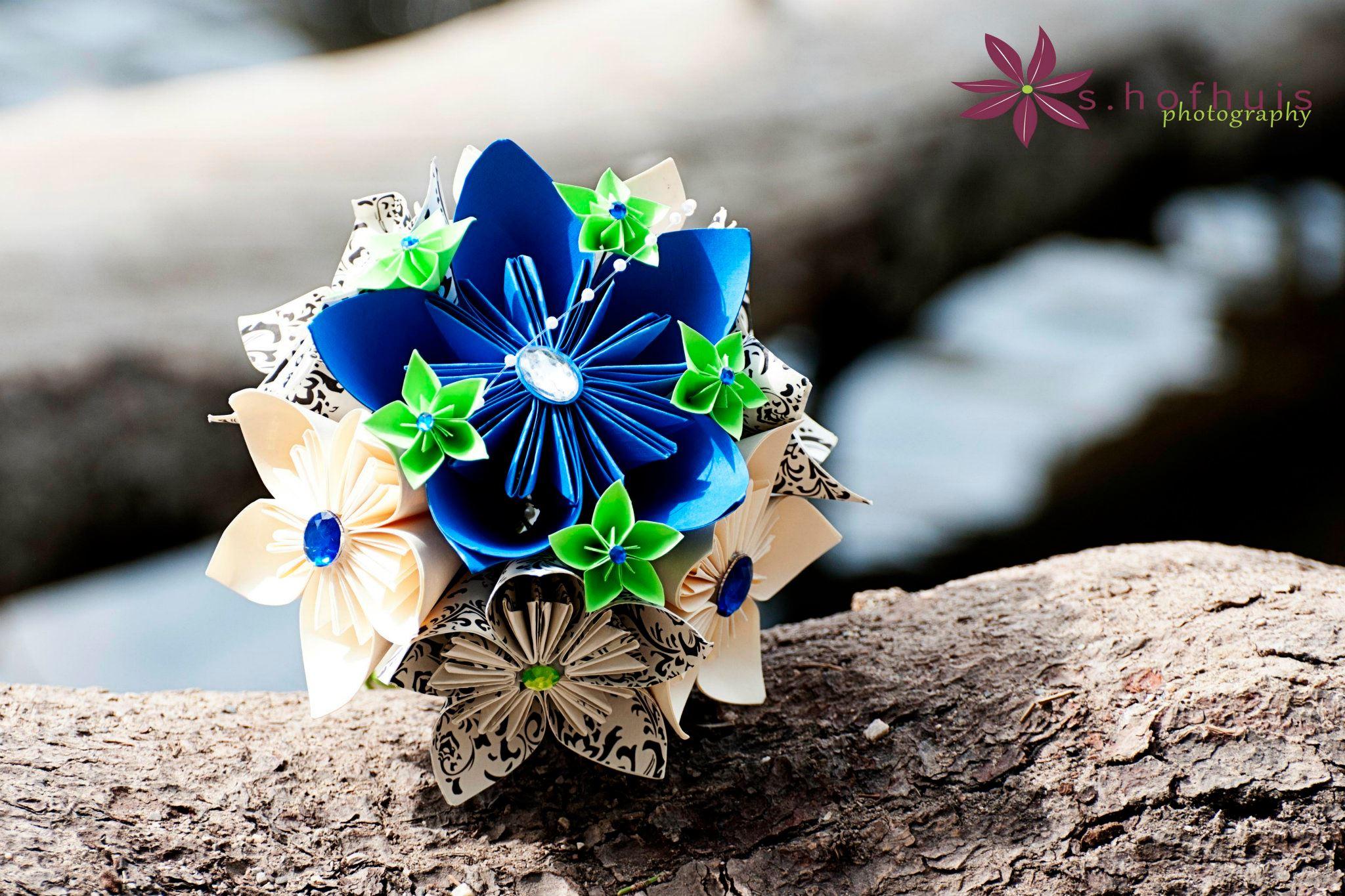 Paper Flower Bouquet As Seen On Slice Tv Bridal Bridesmaid Medium From Prettypaper Flower Shop