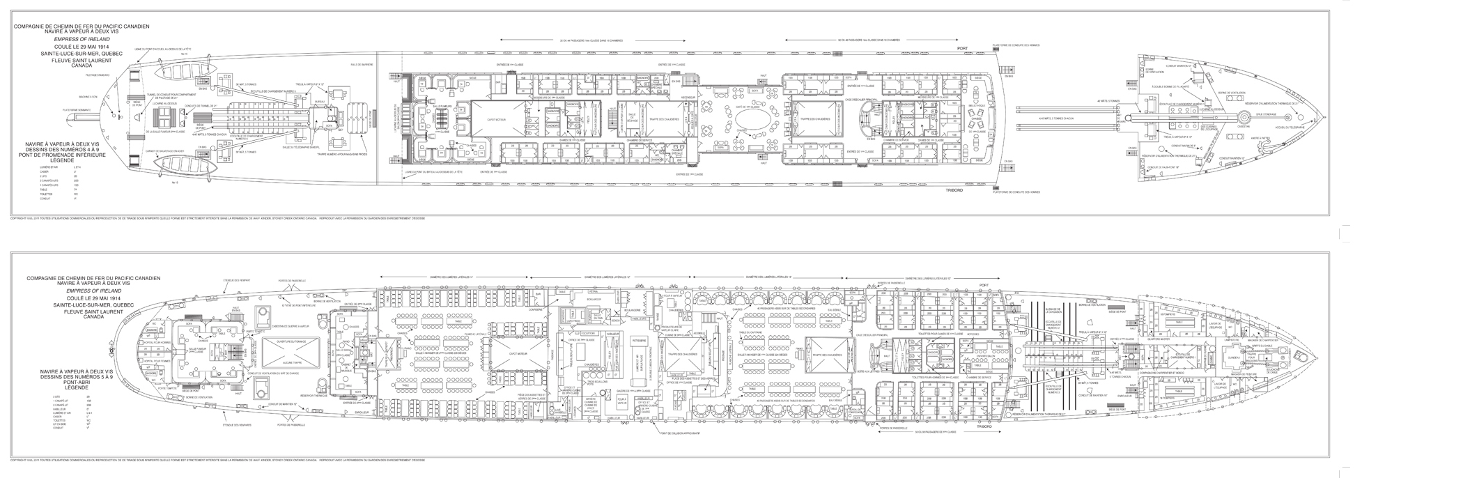 The empress of ireland fench deck plan collection the for Deck plans online