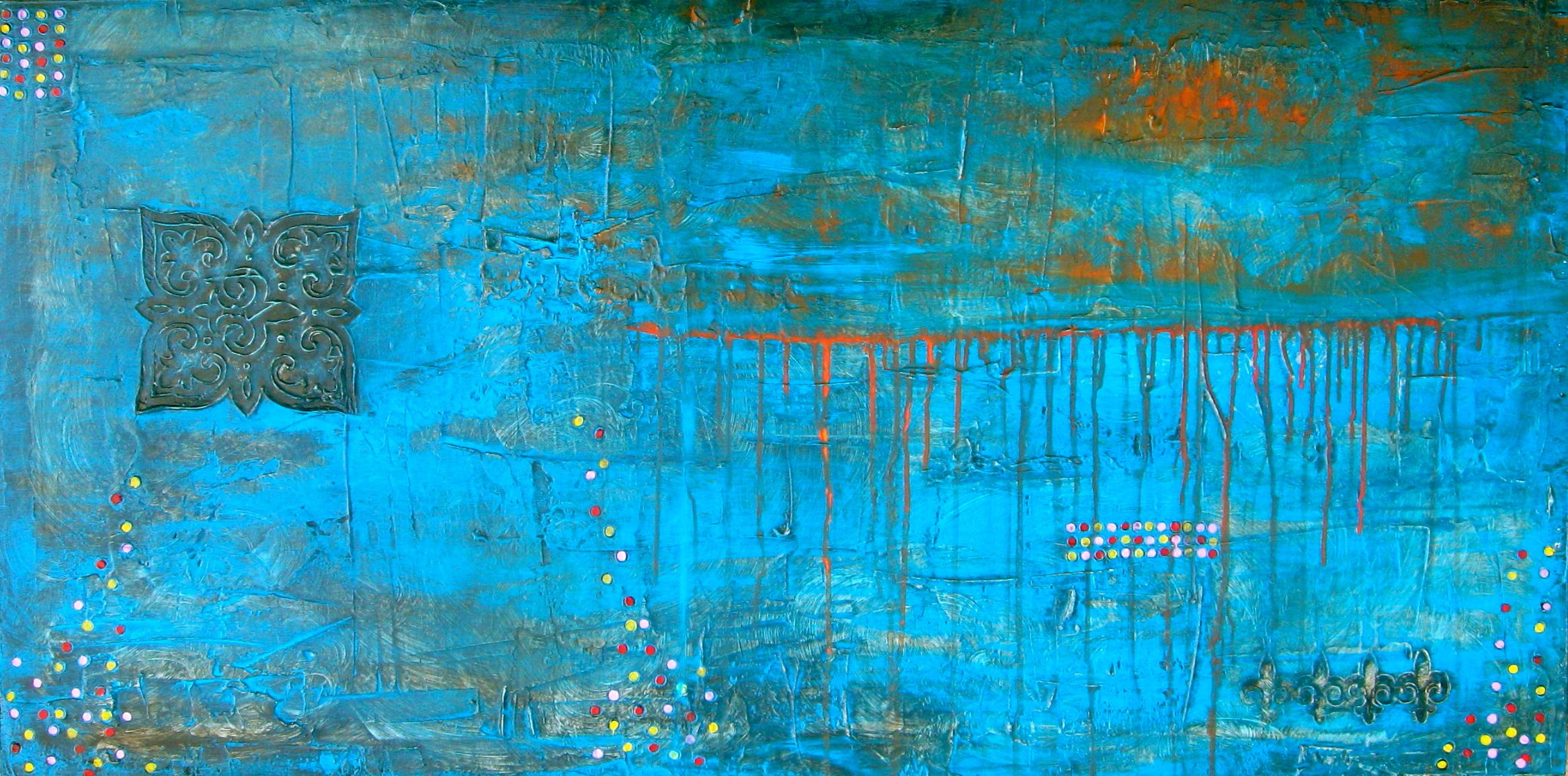 Abstract Art Paintings In Two Sides
