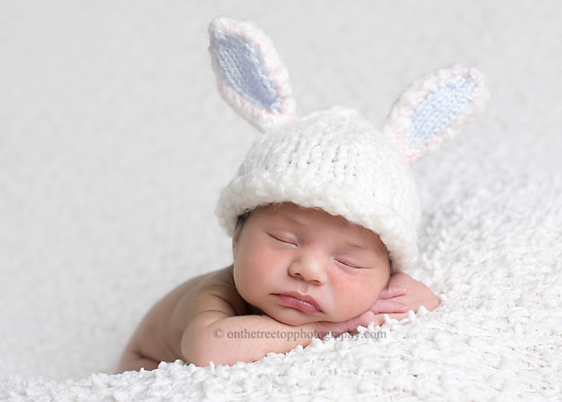e37c5e496 Bunny Hat with Blue Bunny Ears -Photography Prop