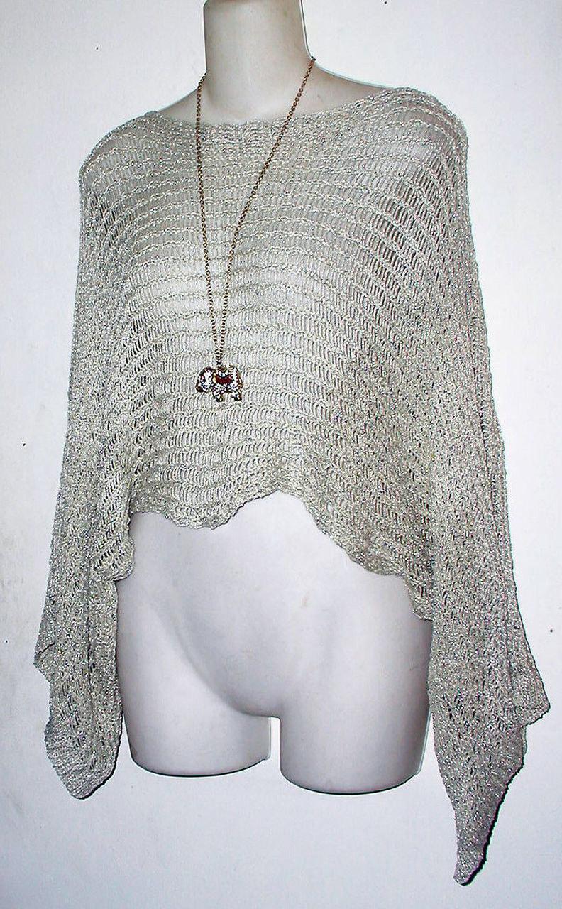 5cc89f5f20 Boho Style Crop Dolman Metallic Gold Knit Sweater on Storenvy
