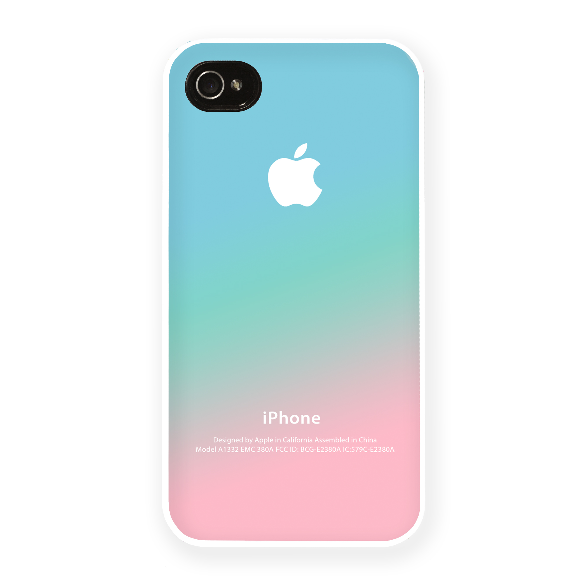 huge selection of 4407e 75a2f Pastel iPhone 5 Case iPhone 4 Case iPhone 4S Case iPhone 5C Case New Apple  Logo Pink Aqua Teal Pastel Ombre