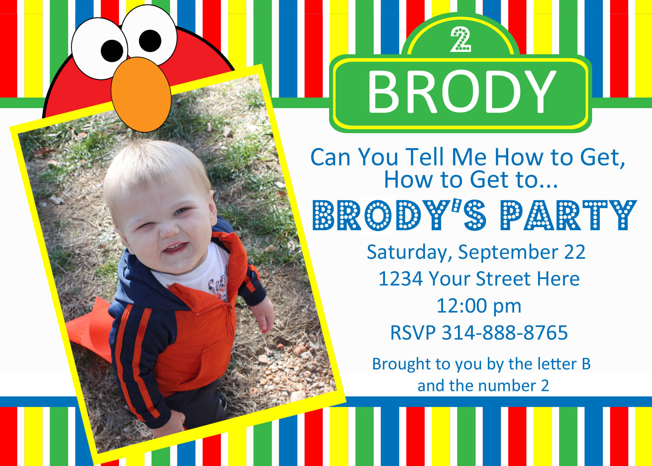 Elmo Sesame Street Birthday Kit on Storenvy – Sesame Street Party Invitations