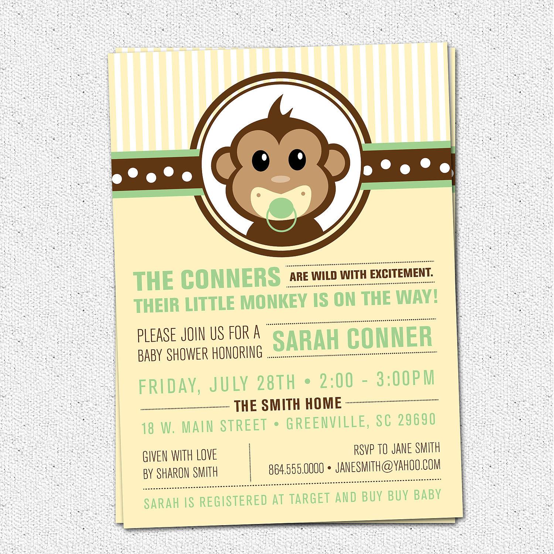 Little monkey baby shower invitations modern preppy gender il fullxfull351448149 original filmwisefo