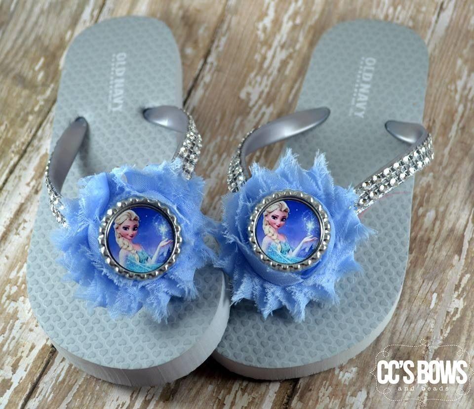 785abb8dae5d Disney s Frozen Elsa Old Navy Rubber Girls Flip Flops Toddler ...