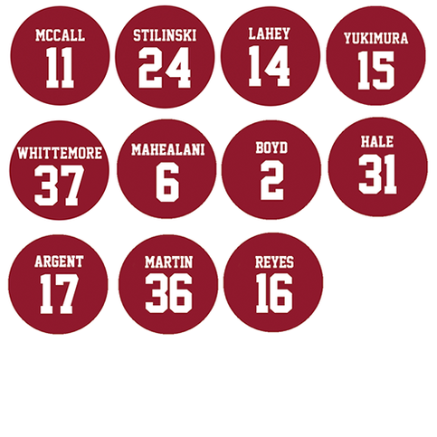 """Teen Wolf Lacrosse Numbers 1"""" Buttons on Storenvy"""