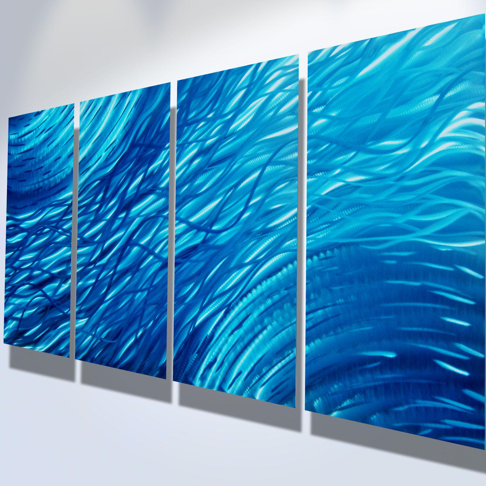 Ocean- Metal Wall Art Abstract Contemporary Modern Decor ...