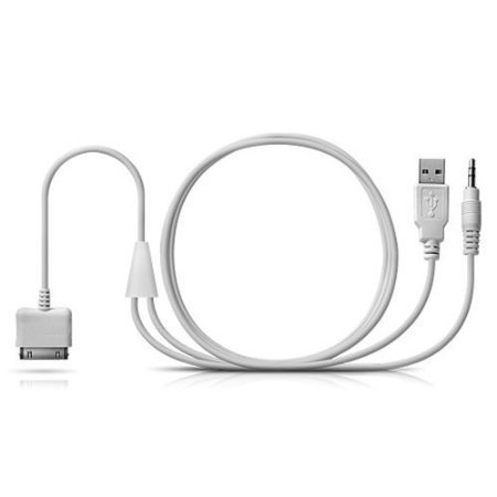competitive price bc8c5 24f98 BMW iPod | iPhone 4 | iPad Y Cable Audio Aux Adapter iDrive Interface Lead  USB to gold plated 3.5mm suitable for BMW / Mini Cooper 2007