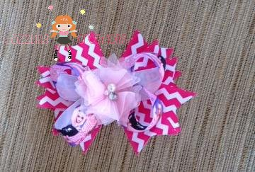 ad429b476a33f Pink Girly Girl Hair Bow/Boutique Bow/Hair Clip/Girls Bows from Dazzling  Creations & More