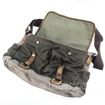 2bcb2fe6df ... Vintage waxed canvas cross messenger bags mens - Thumbnail 3 ...