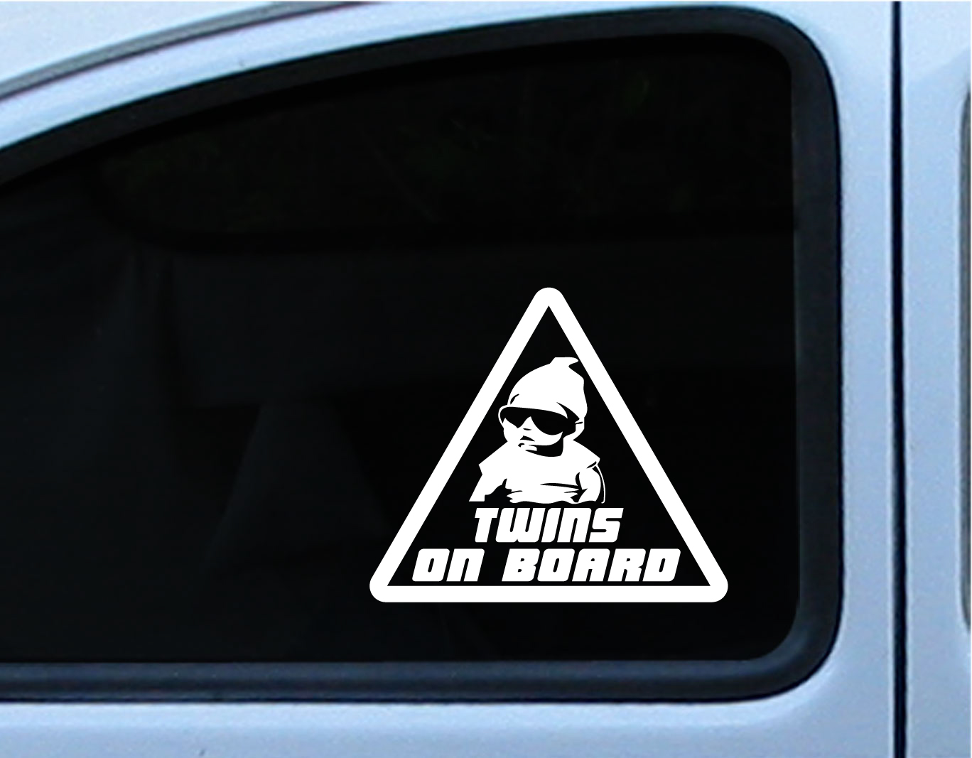 TWINS BABY ON BOARD Carlos Hangover Die Cut Vinyl Decal Sticker - Funny decal stickers for cars