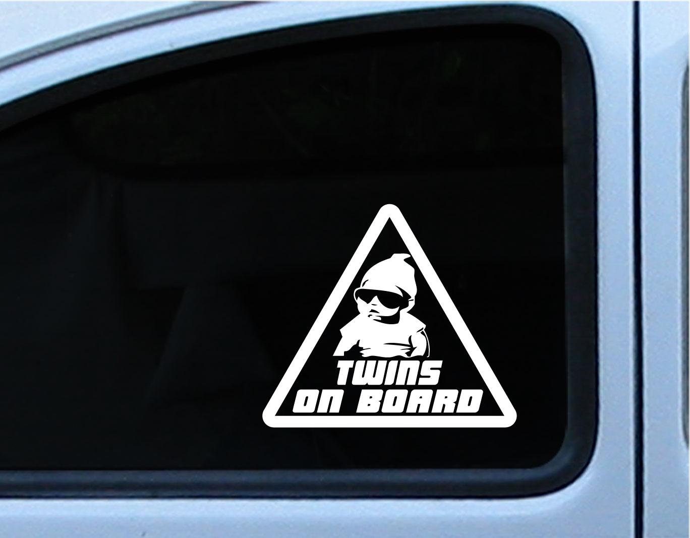 TWINS BABY ON BOARD Carlos Hangover Die Cut Vinyl Decal Sticker - Die cut vinyl decal stickers