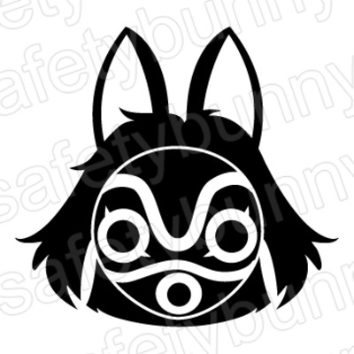 Princess Mononoke Mask Safety Bunny S Decal Shop Online Store Powered By Storenvy
