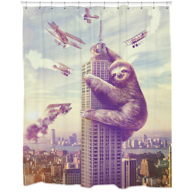 Slothzilla Shower Curtain Sharp Shirter Online Store Powered By Storenvy
