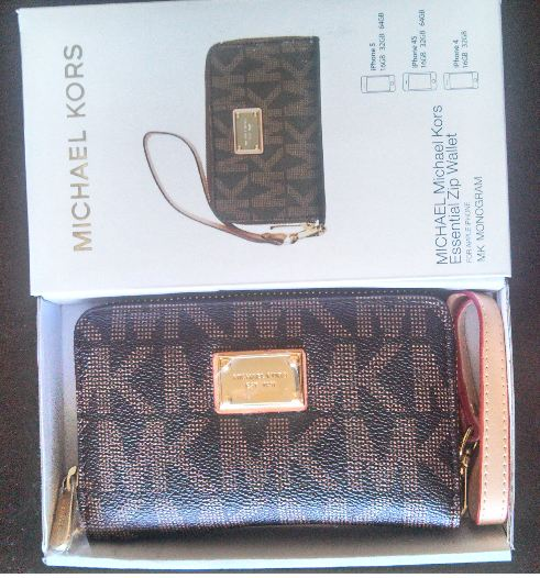 quality design 49b07 41a6f Michael Kors MK Zip Wristlet Wallet Case for All iPhone 4 and 5 Models