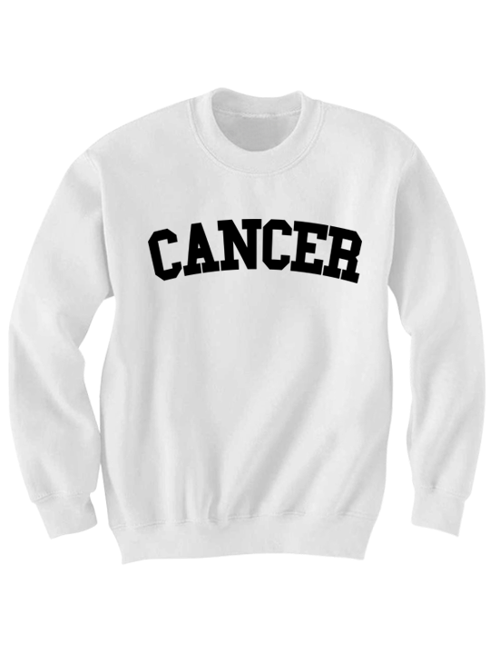 CANCER SWEATSHIRT TEAM SHIRT ZODIAC SIGN SHIRTS COOL HIPSTER CLOTHES GIFTS FOR TEENS BIRTHDAY