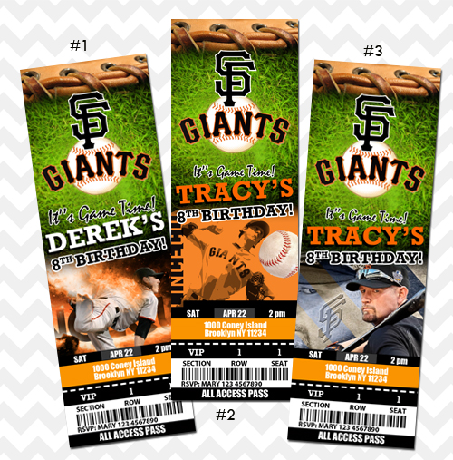 Sanfrancisco Giants Invitation Original