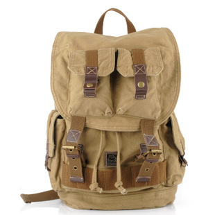4efa66bd9735 Rugged canvas travel rucksacks